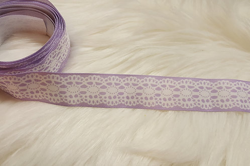 Lavender with Faux Lace Ribbon