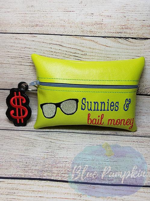Sunnies and Bail Money ITH Zipper Bag Design