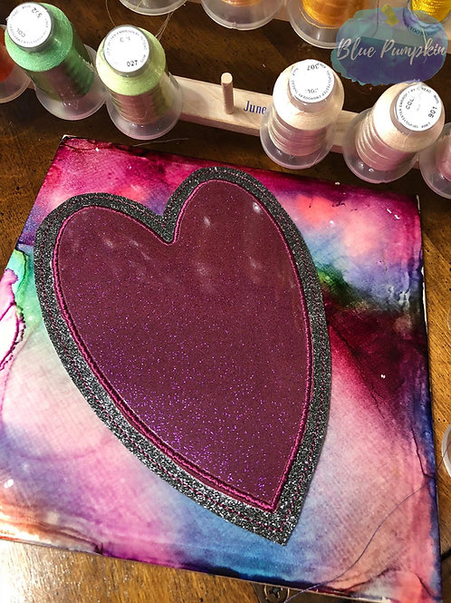 5x7 ITH Heart Applique Mouse Pad Design