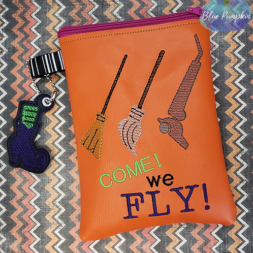 Come We Fly ITH Zipper Bag Design