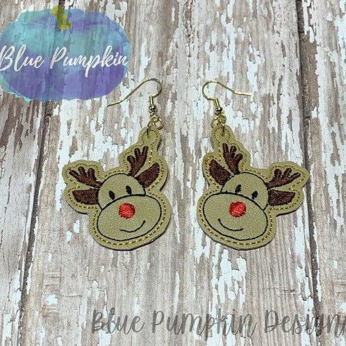 Happy Reindeer Face Earrings