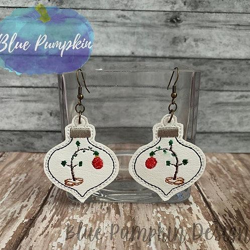CBrown Tree Ornament Earrings