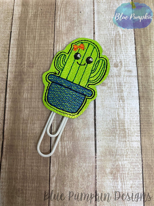 Cutie Cactus with Bow Paper Clip Toppers
