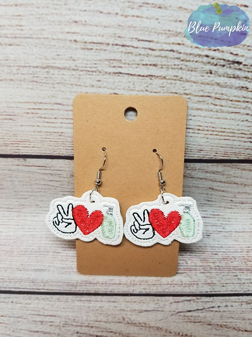 Peace Love Sani Earrings