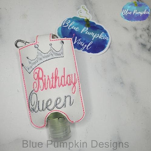 2oz Birthday Queen Hand Sanitizer Holder