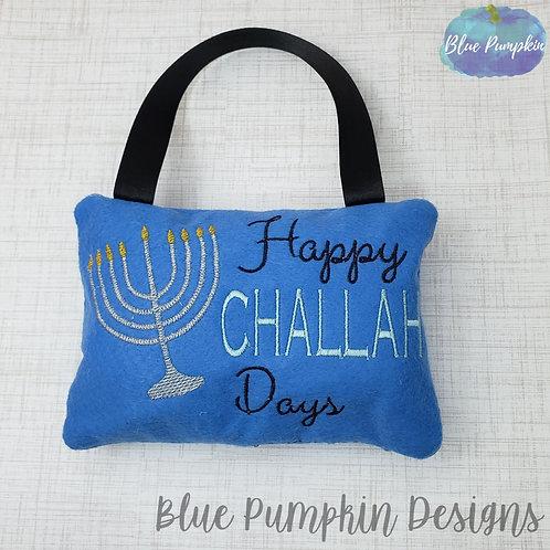 Happy Challah Pillow Door Knob Hanger
