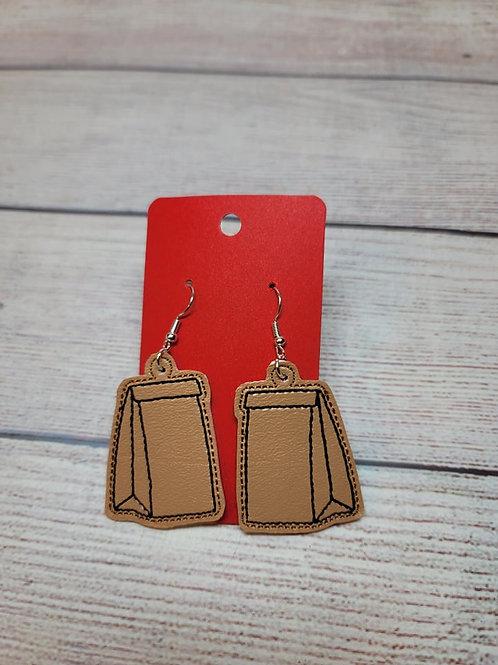 Brown Bag Earrings