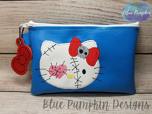 APPLIQUE VooDoo Kitty ITH Zipper Bag Design
