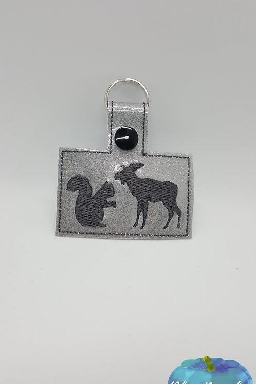 Squirrel and Moose Supernatural Key Fob