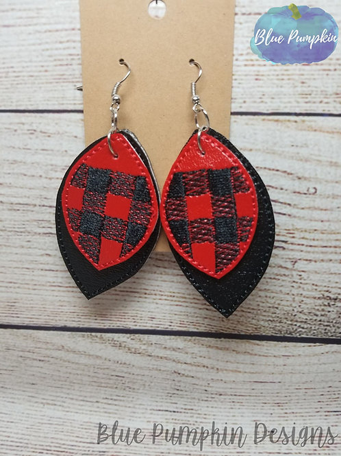 5x7  Layered Buffalo Plaid Earrings