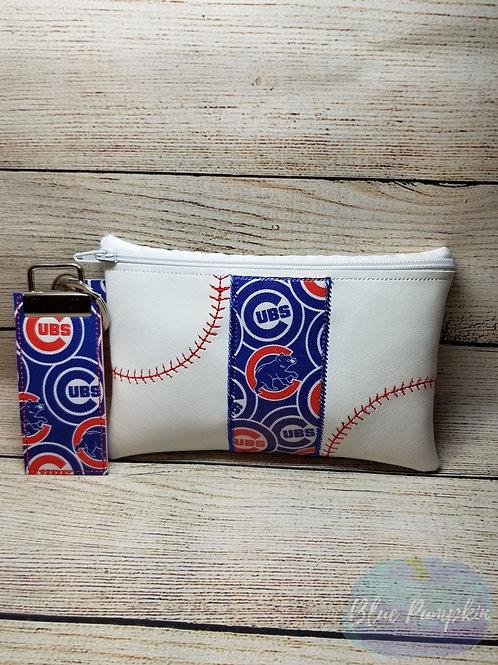 Baseball Stripe 5x7 ITH Zipper Bag Design
