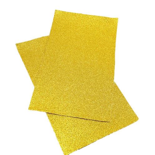 Bright Yellow Glitter Embroidery Vinyl