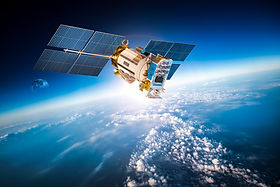 Space satellite orbiting the earth. Elements of this image furnished by NASA..jpg