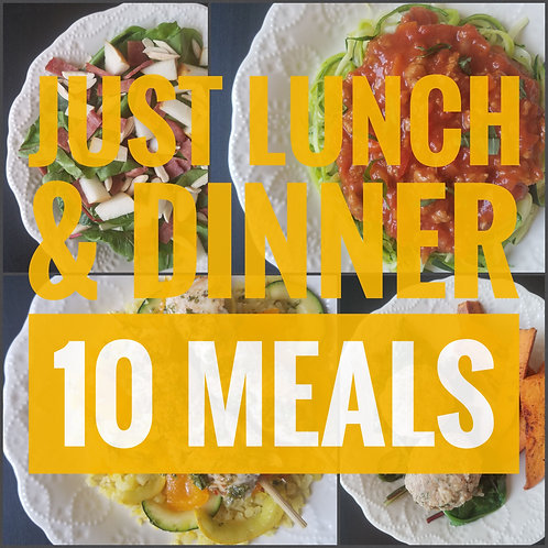Just Lunch & Dinner Meal Plan