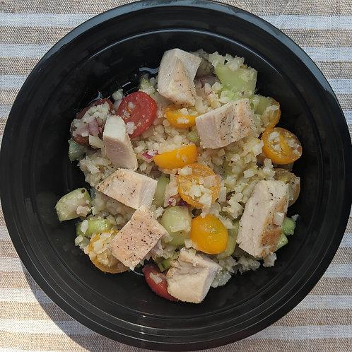 """Cauli """"Pasta"""" Salad w/ Chicken"""