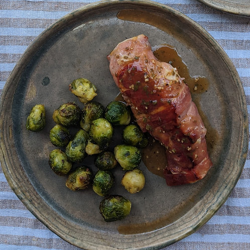 Prosciutto Wrapped Chicken w/ Brussels