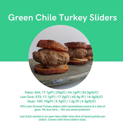 Green Chile Turkey Sliders