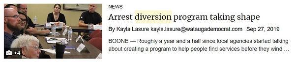 arrest diversion program taking shape 2.