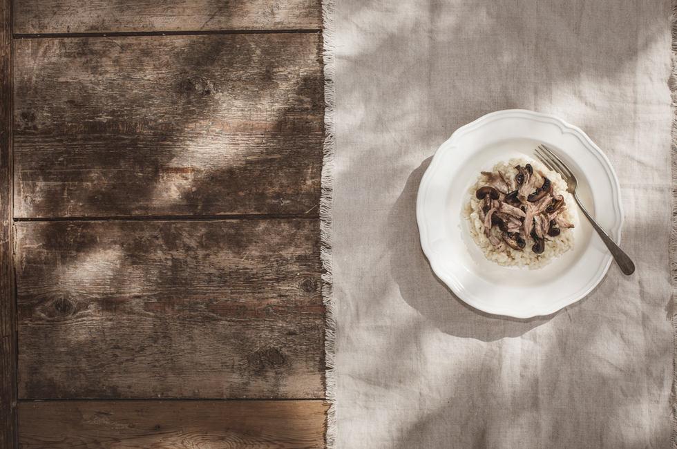 Gåserisotto - Smaalensgås fra Østfold