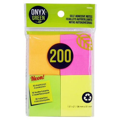 neon color sticky notes