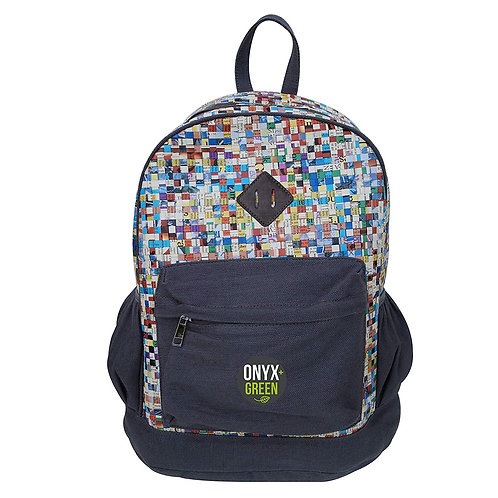 Recycled Newspaper Backpack by Onyx & Green