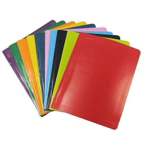 Recycled paper presentation folders