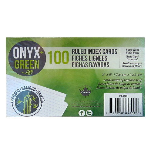 Bamboo paper index cards