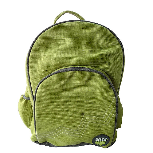Green Backpack for School made from Ramie & Jute