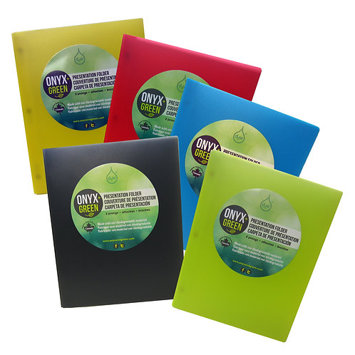 Oxo biodegradable presentation folders with pockets