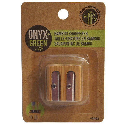 double sharpener bamboo brown