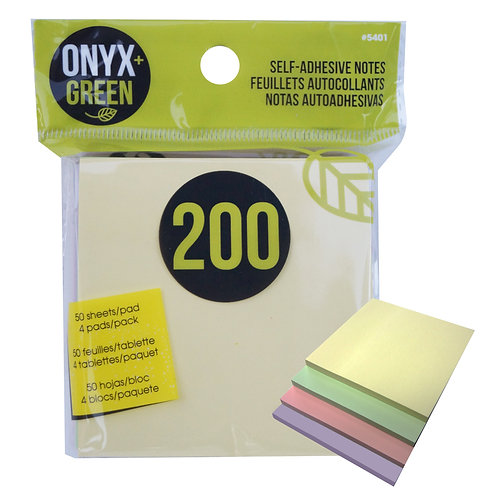 Pastel recycled paper sticky notes