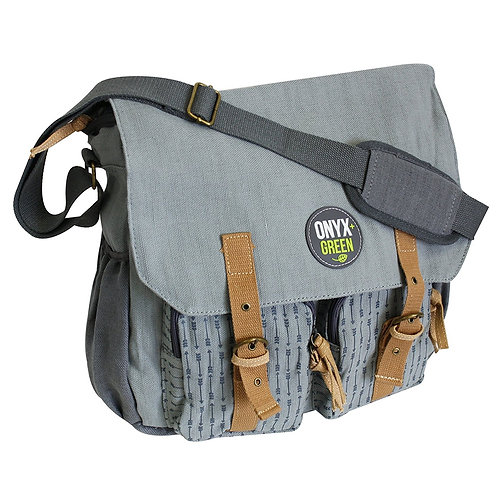 Grey Messenger School Bag