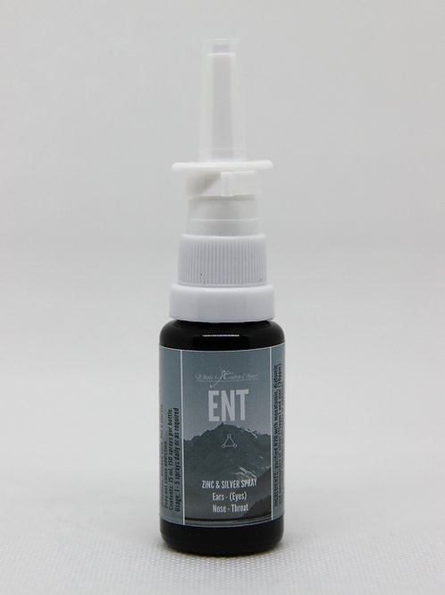 ENT (Zinc & Silver) Spray 15ml