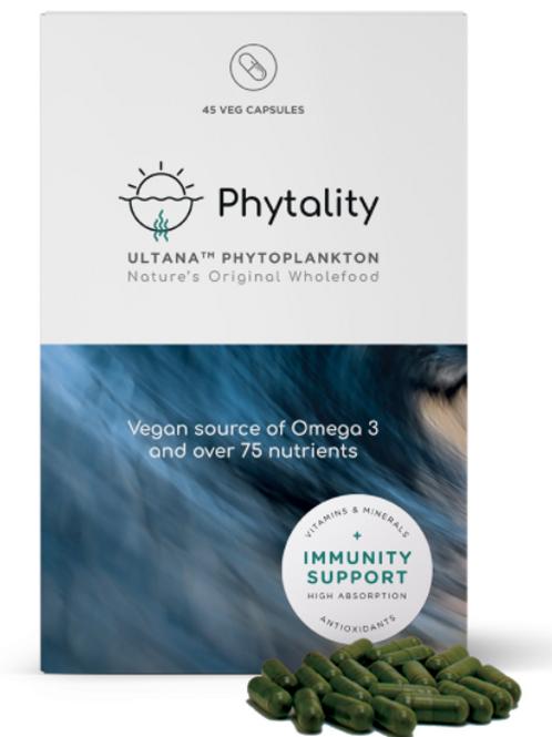 45 caps of Ultana Phytoplankton 90 V-caps