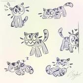 Chomp Kitty Sketches 1