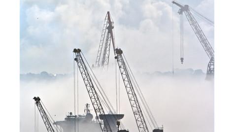 Brume sur le port de Brest