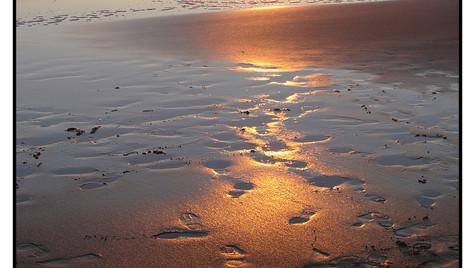 Derniers rayons de soleil sur la plage