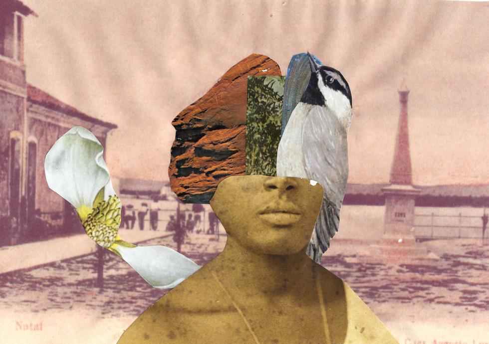 Territórios, imaginados  Imagined territories, 2021, Colagem analógica Analog collage, 26,
