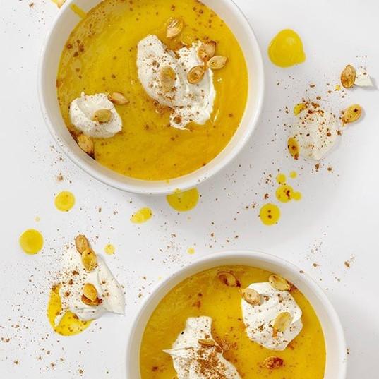 Pumpkin pie soup! _Creamy pumpkin soup g