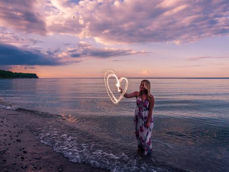 Beach shoot at sunset