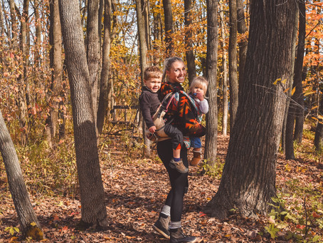 How to survive hiking with two kids alone