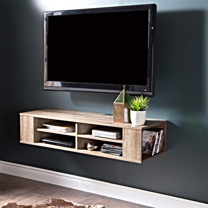 Espresso-Wall-Mounted Tv & Floating Tv Stand
