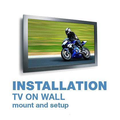 0'-32' Tilt TV Bracket with on wall installation