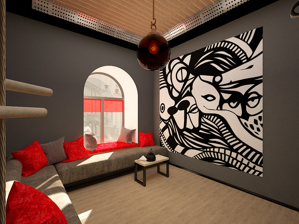 Interior design of the relax room