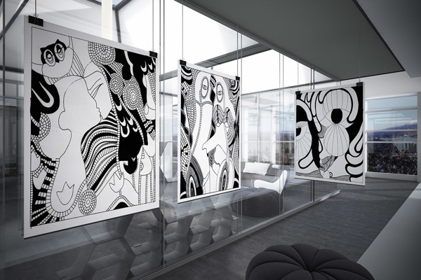 paintings in the interior