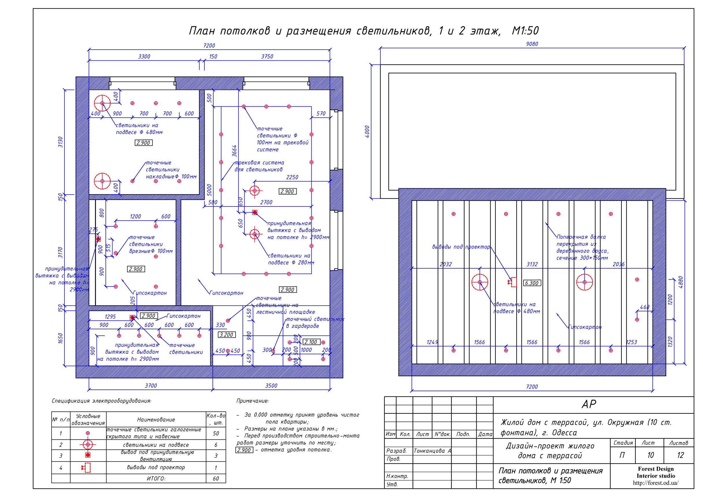 11-план потолка и светильников