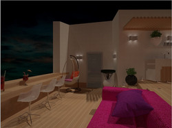 Lounge зона на терраса, ЖК Париж