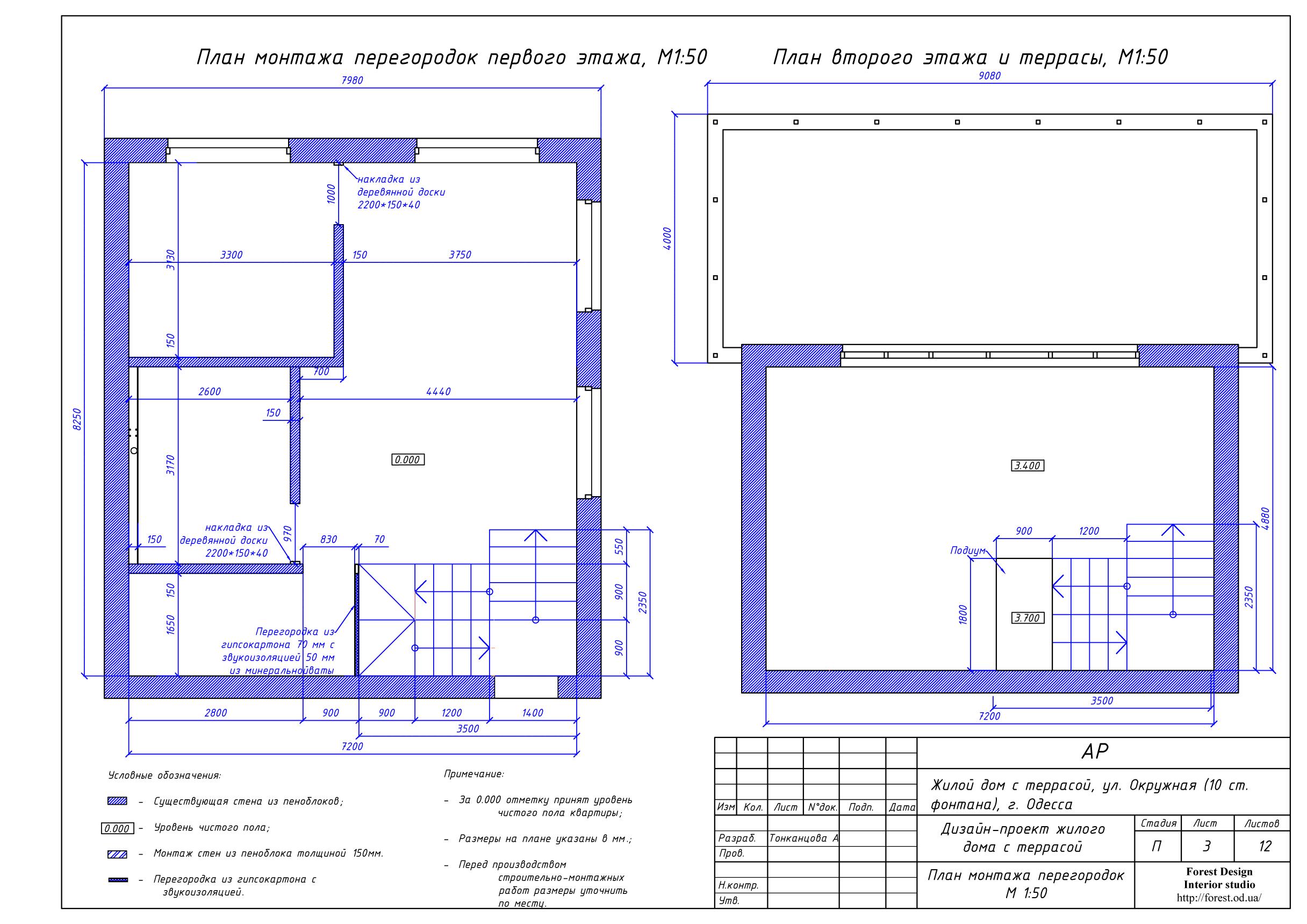 4-план монтажа перегородок