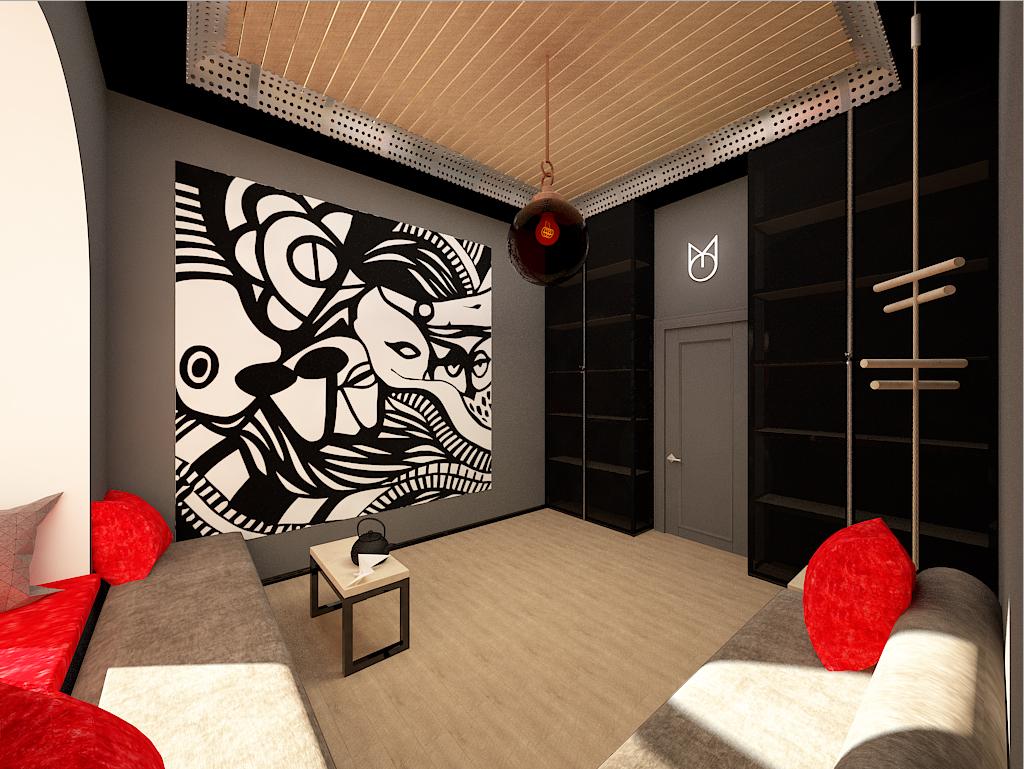 Interior design of the restaurant
