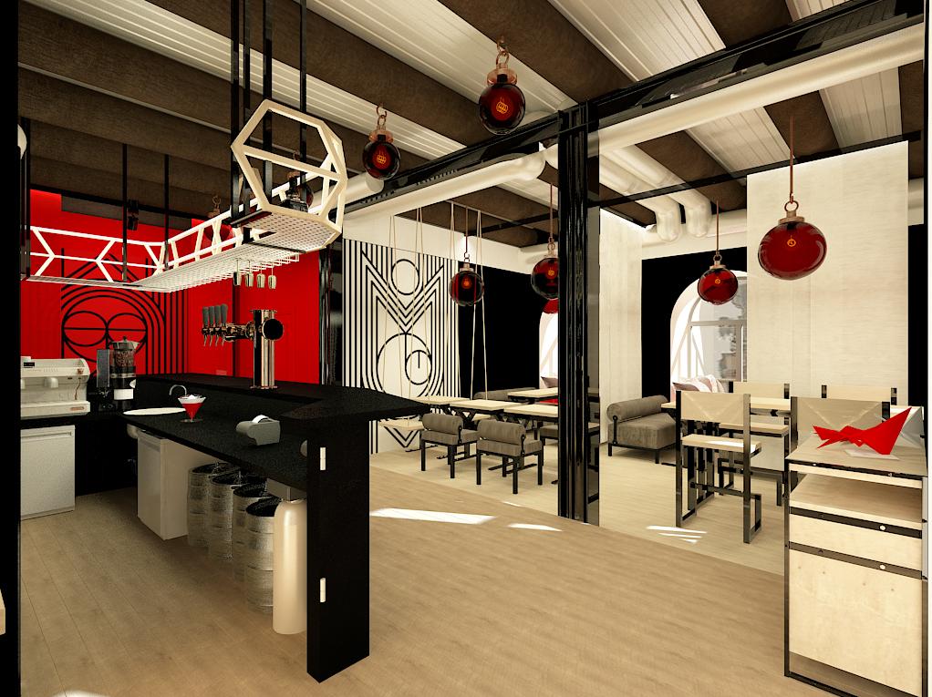 Design interior MOMOYAMA Ramen bar